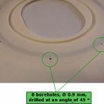Keramikteil mit Metall Detail Löcher-0,9mm